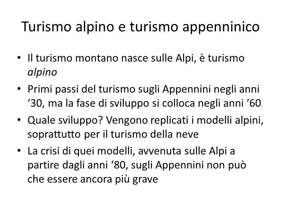 Turismo alpino e turismo appenninico