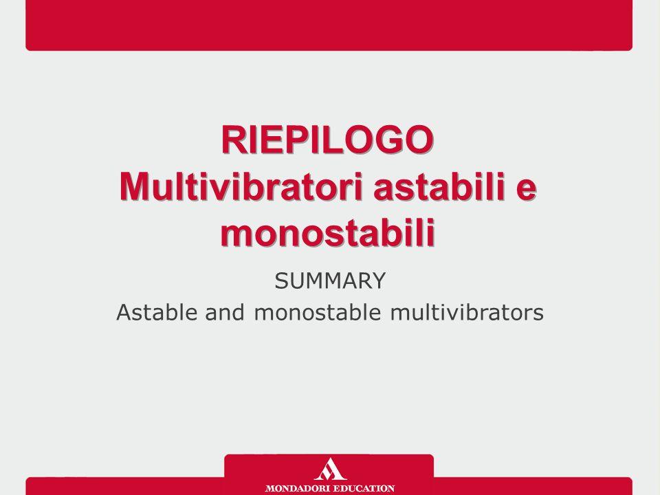 Multivibratori astabili e monostabili