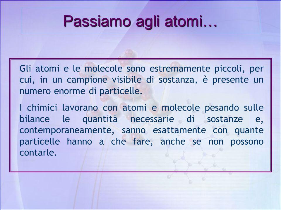 Passiamo agli atomi…