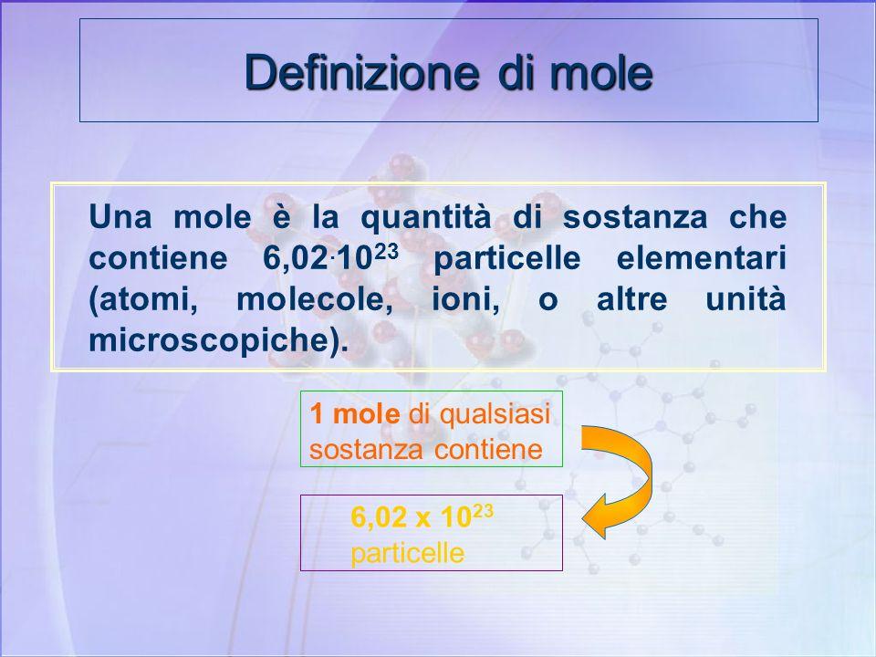Definizione di mole
