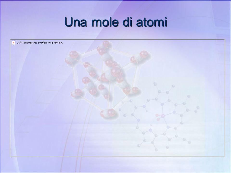 Una mole di atomi