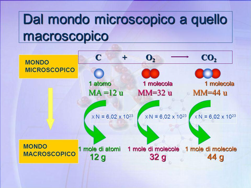 Dal mondo microscopico a quello macroscopico