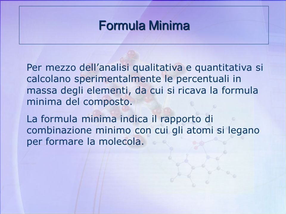Formula Minima