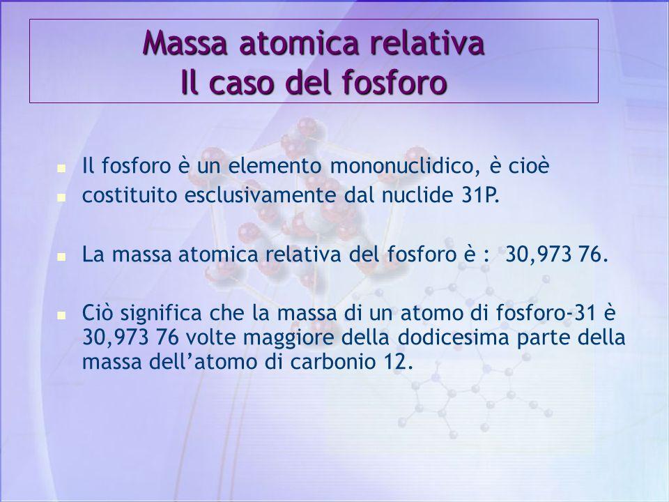 Massa atomica relativa Il caso del fosforo