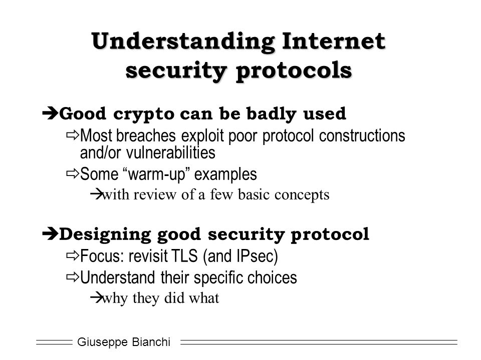 Understanding Internet security protocols