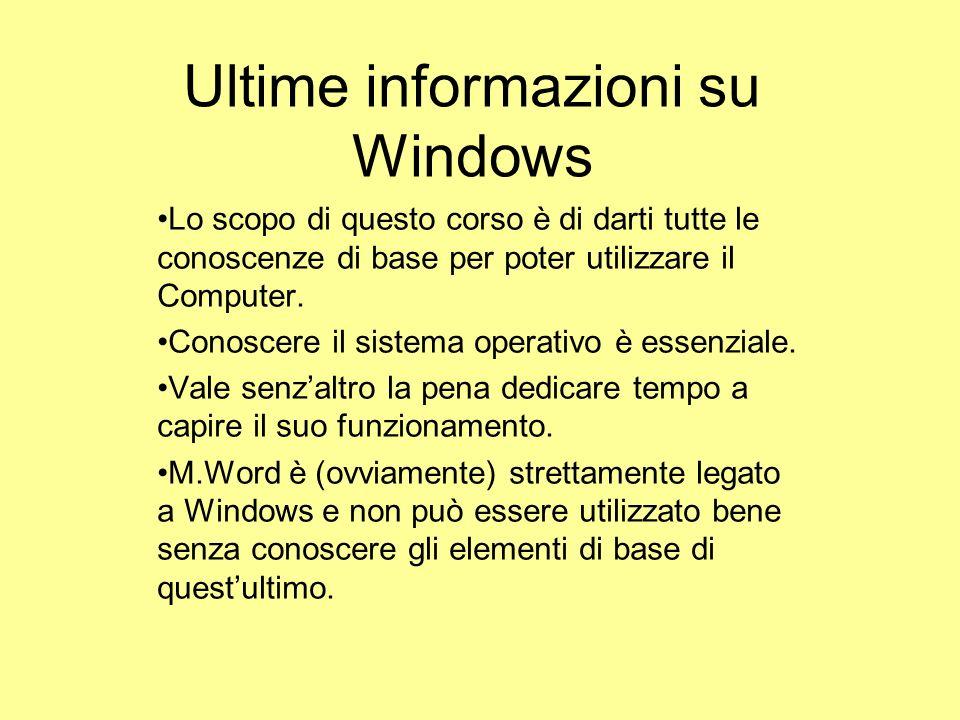 Ultime informazioni su Windows