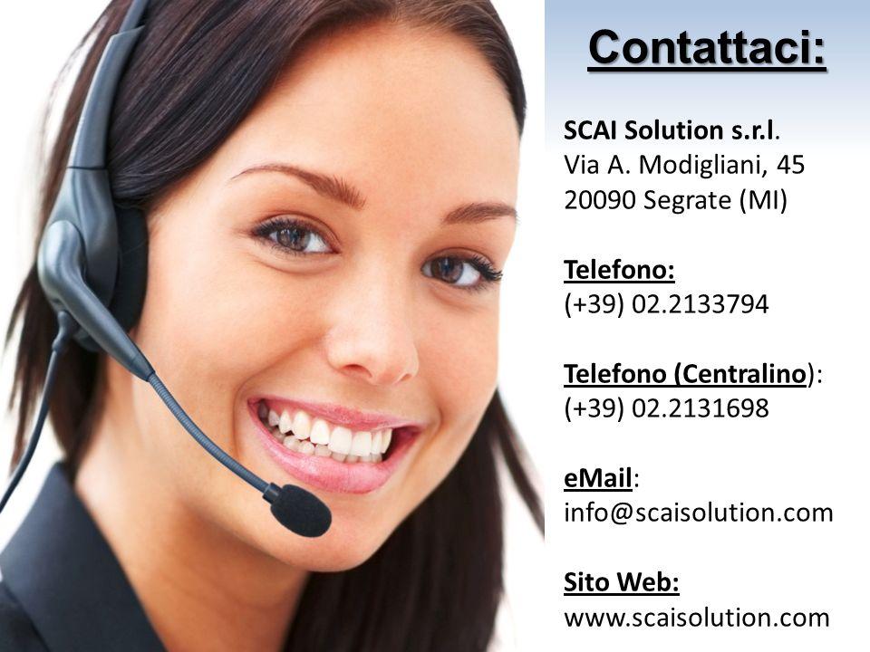 Contattaci: SCAI Solution s.r.l. Via A. Modigliani, 45