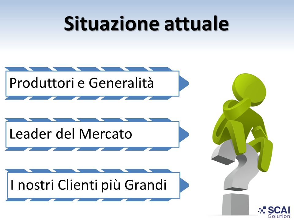 Situazione attuale I nostri Clienti più Grandi Produttori e Generalità
