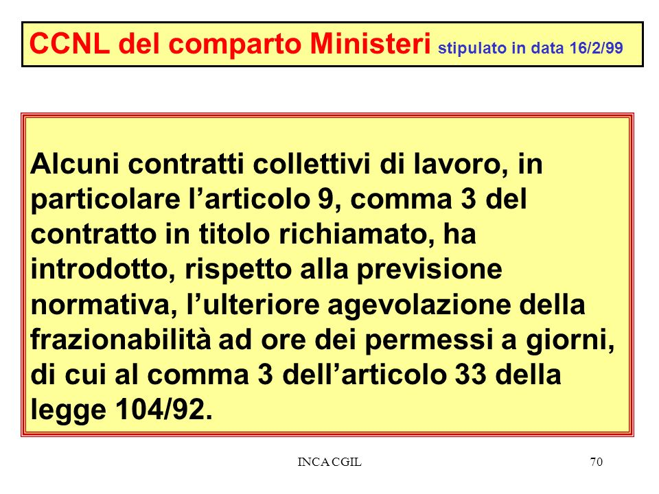 CCNL del comparto Ministeri stipulato in data 16/2/99