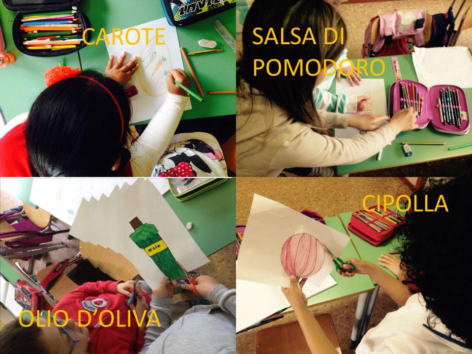 CAROTE SALSA DI POMODORO CIPOLLA CAROTE OLIO D'OLIVA