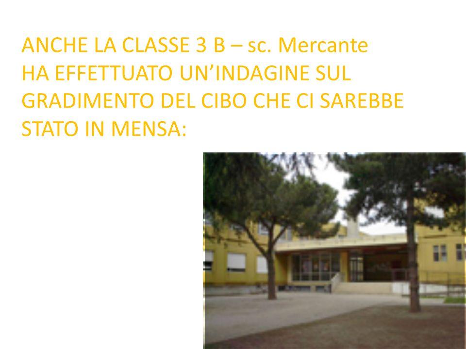 ANCHE LA CLASSE 3 B – sc. Mercante