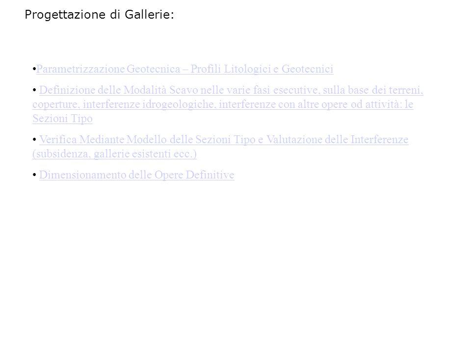 Progettazione di Gallerie: