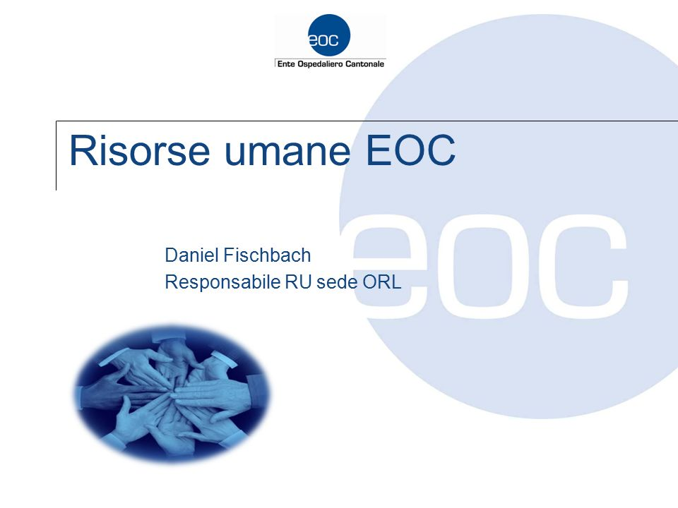 Daniel Fischbach Responsabile RU sede ORL