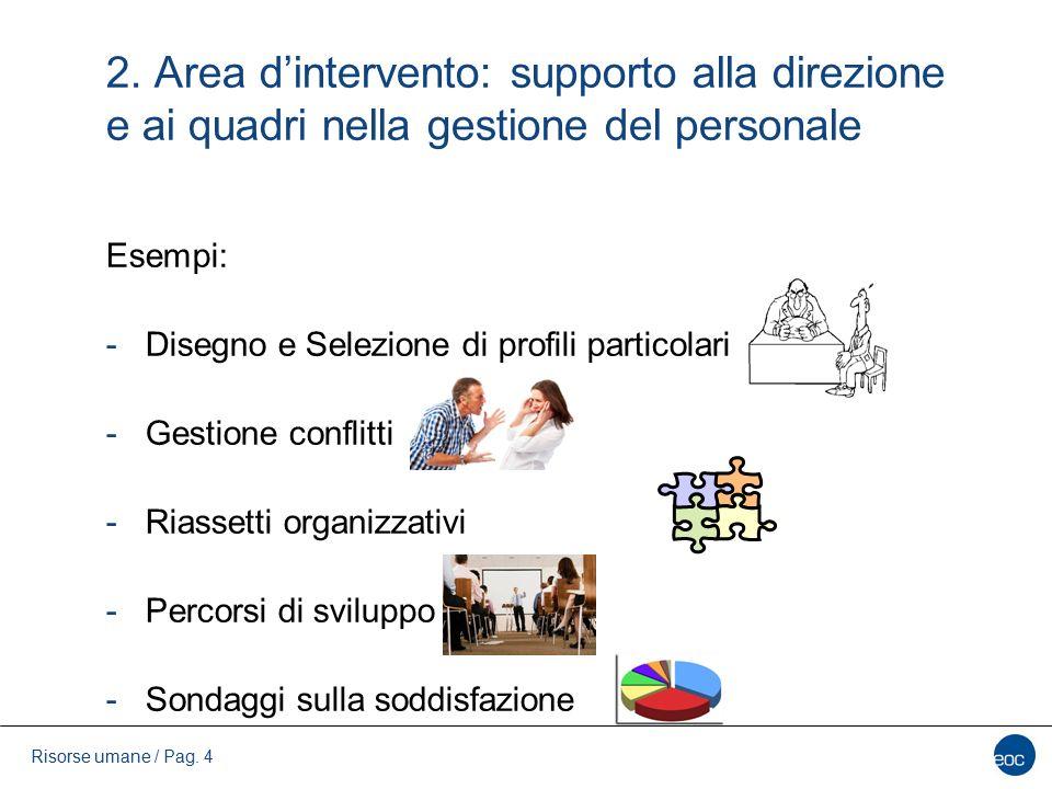 2. Area d'intervento: supporto alla direzione e ai quadri nella gestione del personale