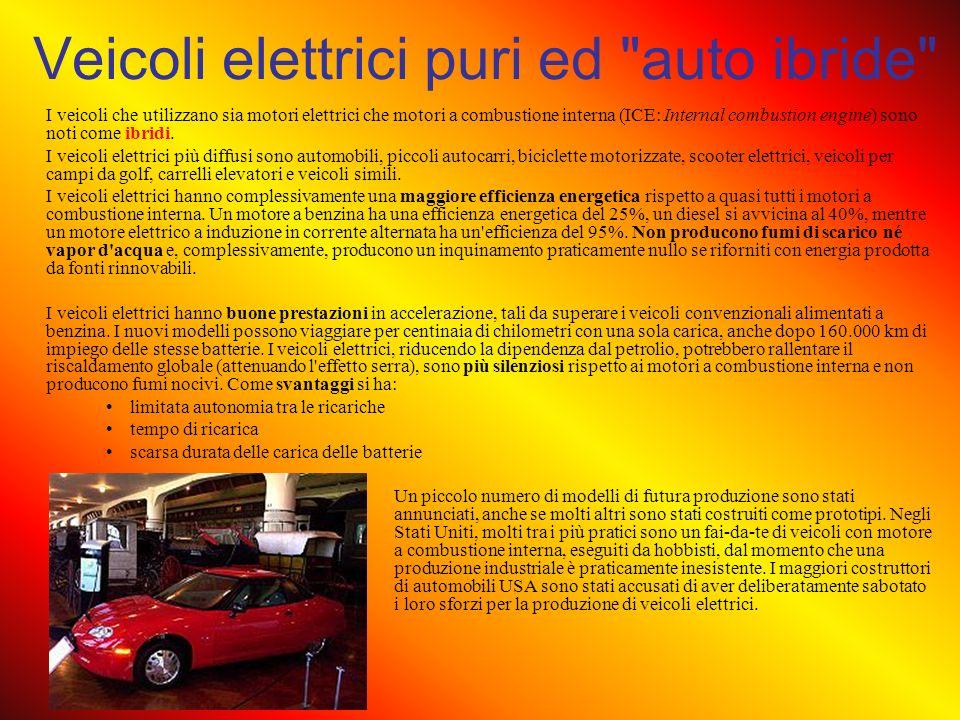 Veicoli elettrici puri ed auto ibride