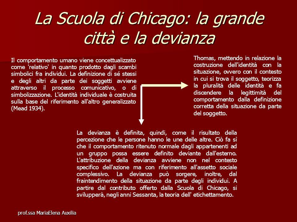 La Scuola di Chicago: la grande città e la devianza