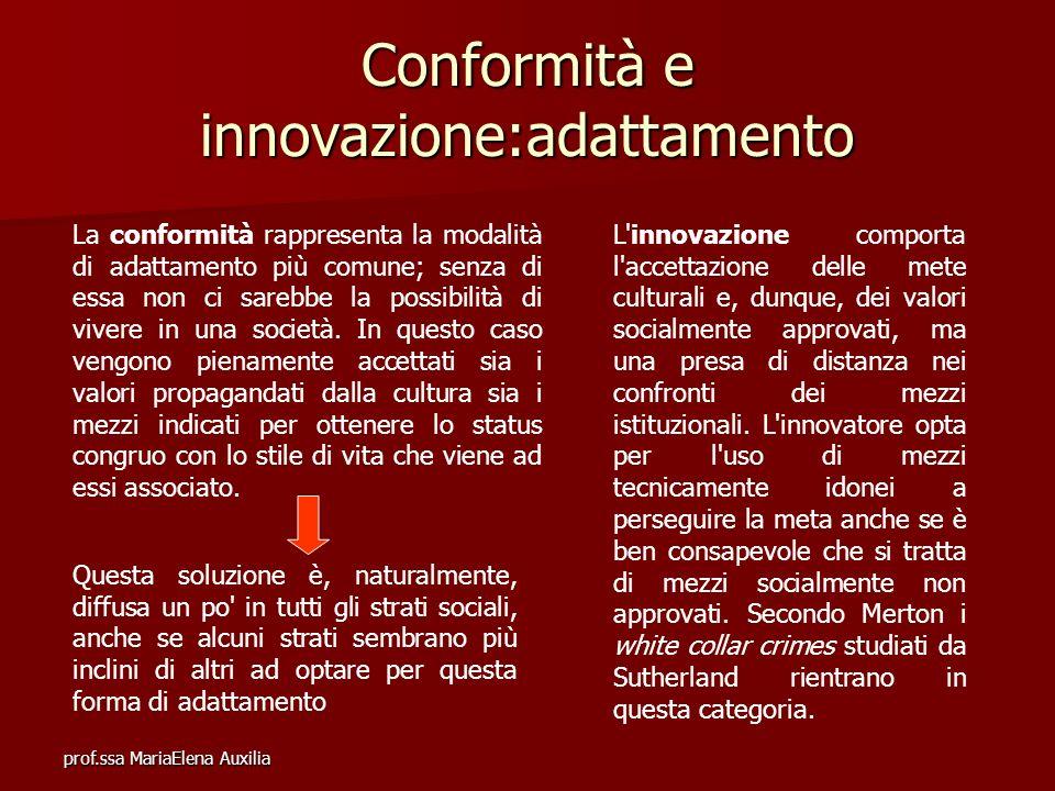 Conformità e innovazione:adattamento