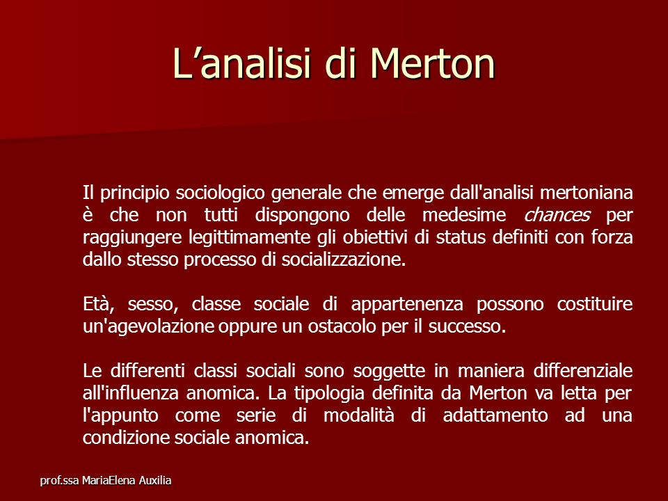 L'analisi di Merton