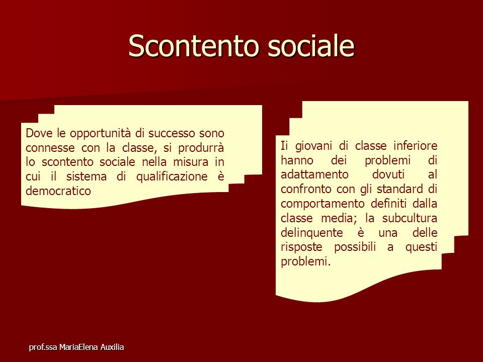 Scontento sociale