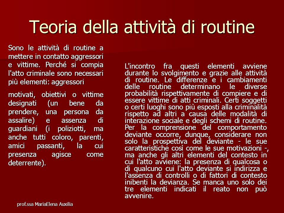 Teoria della attività di routine
