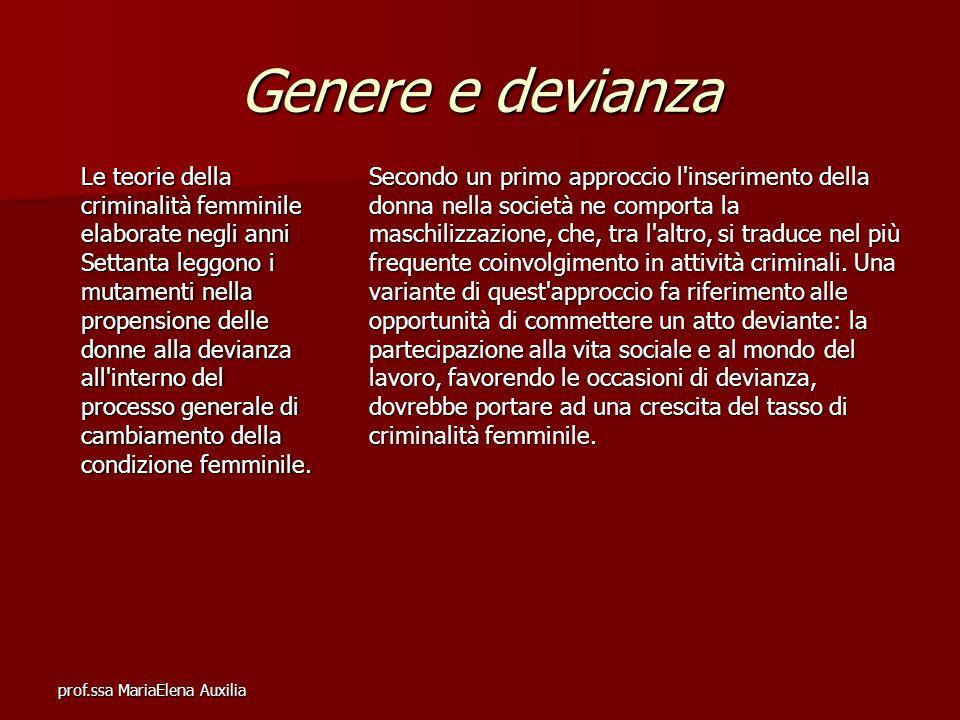 Genere e devianza