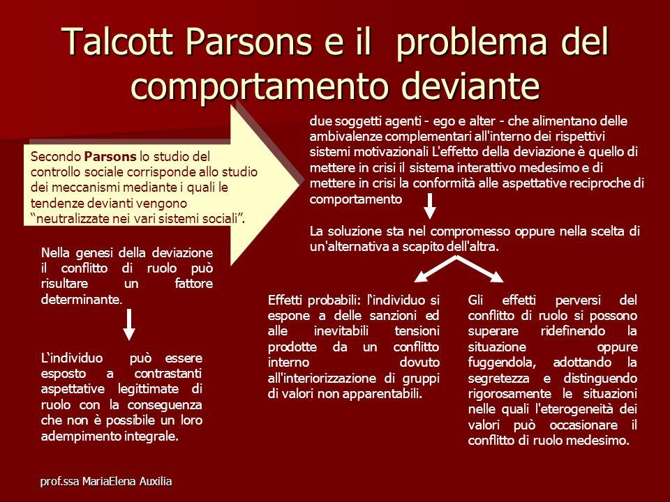 Talcott Parsons e il problema del comportamento deviante