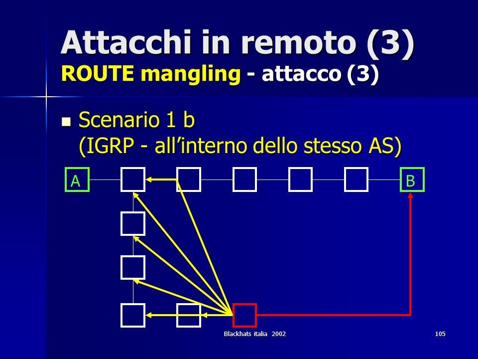 Attacchi in remoto (3) ROUTE mangling - attacco (3)
