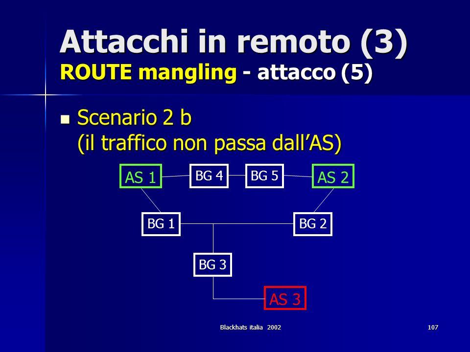 Attacchi in remoto (3) ROUTE mangling - attacco (5)