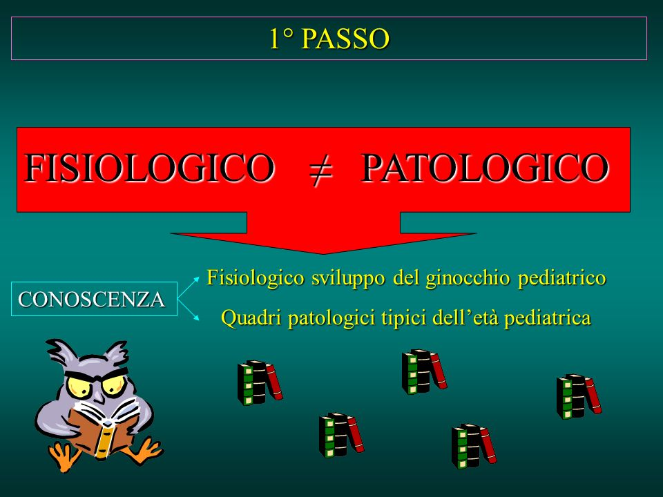 FISIOLOGICO ≠ PATOLOGICO 1° PASSO