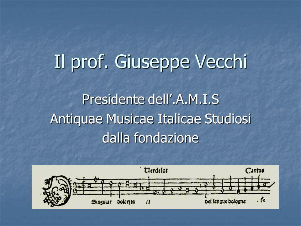 Il prof. Giuseppe Vecchi