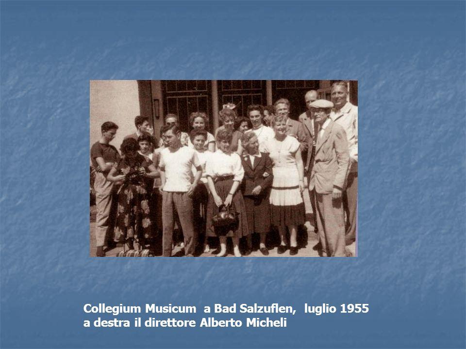 Collegium Musicum a Bad Salzuflen, luglio 1955 a destra il direttore Alberto Micheli