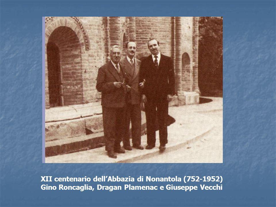 XII centenario dell'Abbazia di Nonantola (752-1952) Gino Roncaglia, Dragan Plamenac e Giuseppe Vecchi