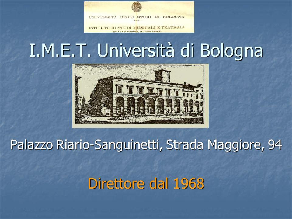 I.M.E.T. Università di Bologna
