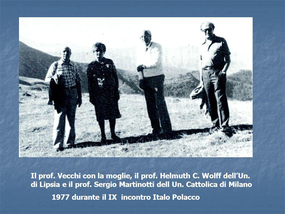 Il prof. Vecchi con la moglie, il prof. Helmuth C. Wolff dell'Un