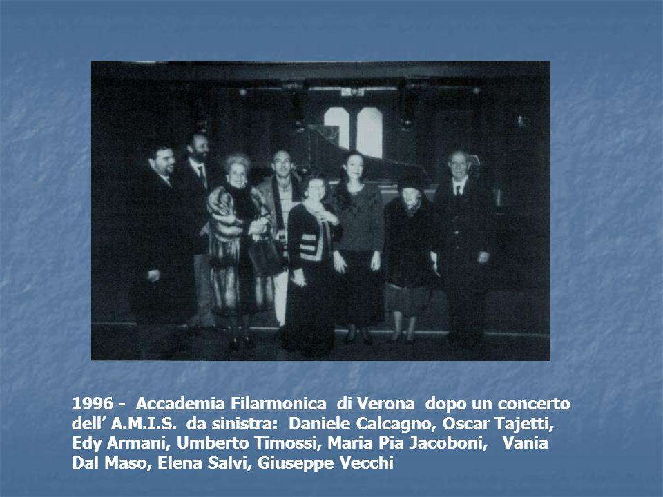 1996 - Accademia Filarmonica di Verona dopo un concerto dell' A. M. I
