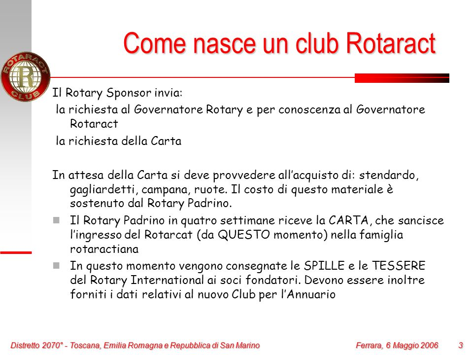 Come nasce un club Rotaract