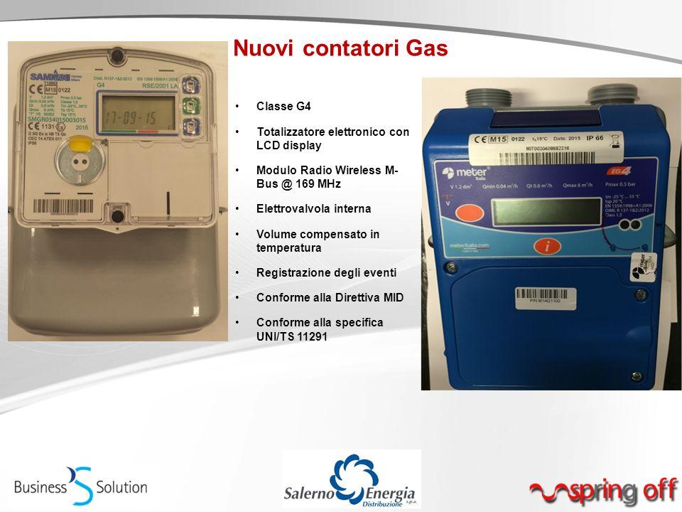 Nuovi contatori Gas Classe G4