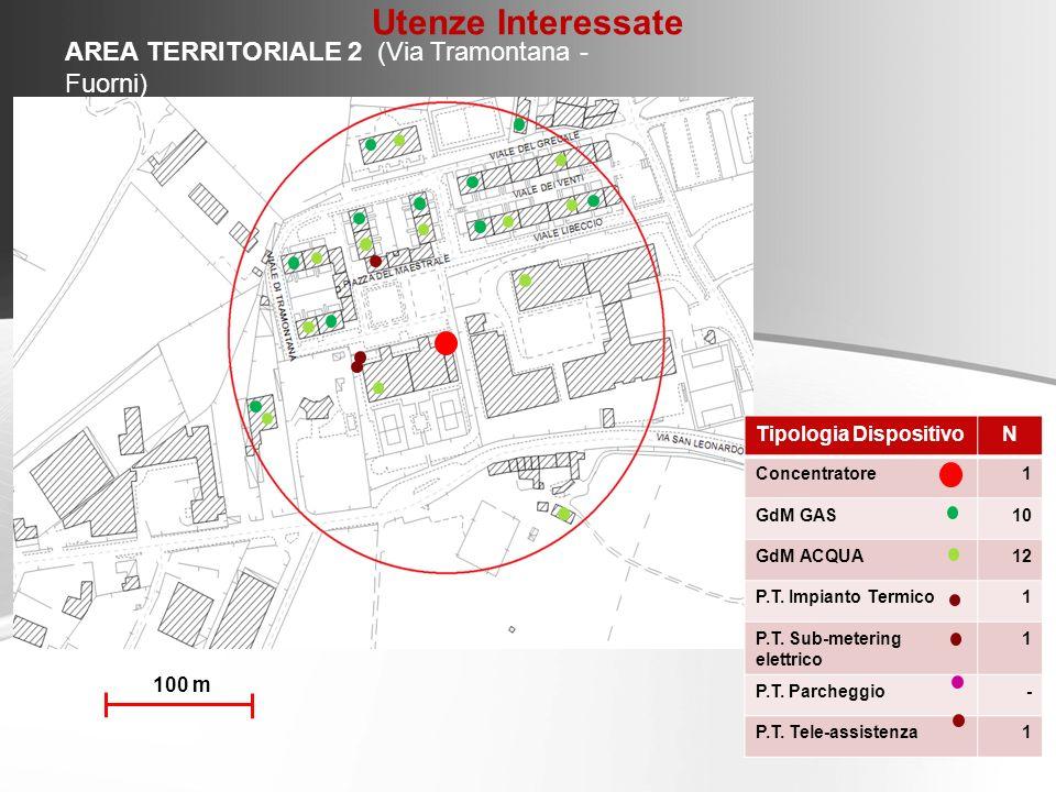 Utenze Interessate AREA TERRITORIALE 2 (Via Tramontana - Fuorni)