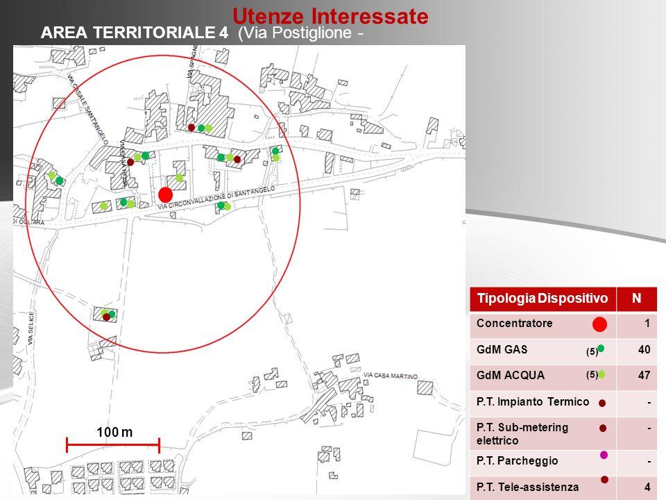Utenze Interessate AREA TERRITORIALE 4 (Via Postiglione - Ogliara)