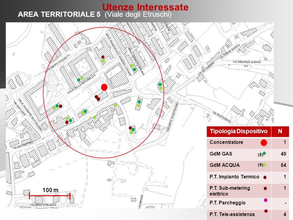 Utenze Interessate AREA TERRITORIALE 5 (Viale degli Etruschi)