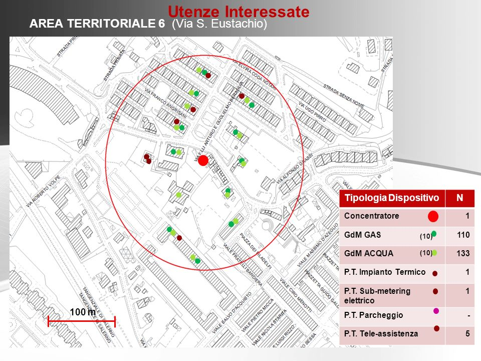 Utenze Interessate AREA TERRITORIALE 6 (Via S. Eustachio)