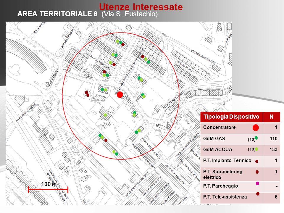 Utenze Interessate AREA TERRITORIALE 6 (Via S. Eustachio)