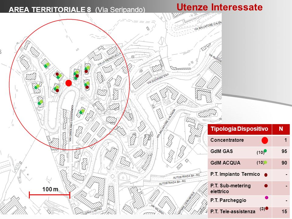 Utenze Interessate AREA TERRITORIALE 8 (Via Seripando)