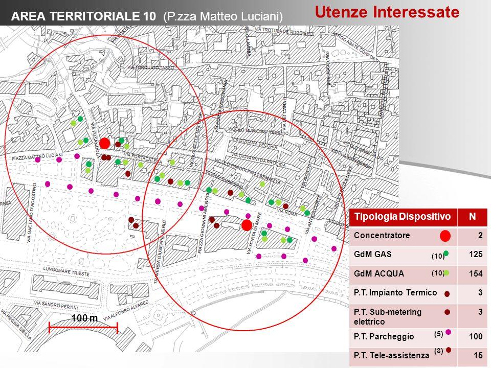 Utenze Interessate AREA TERRITORIALE 10 (P.zza Matteo Luciani)