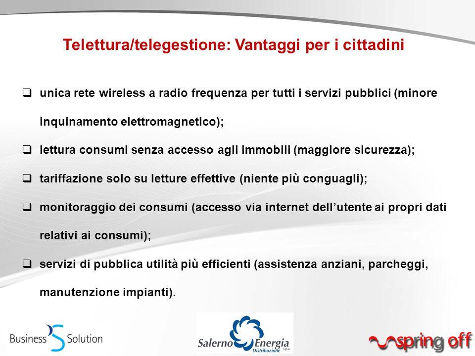 Telettura/telegestione: Vantaggi per i cittadini