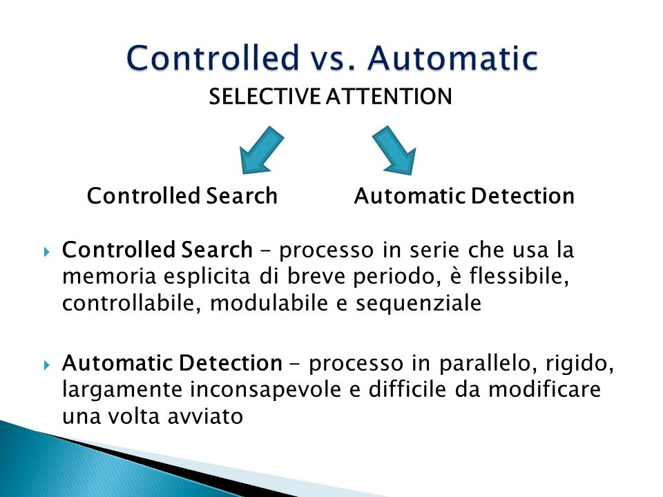 Controlled vs. Automatic