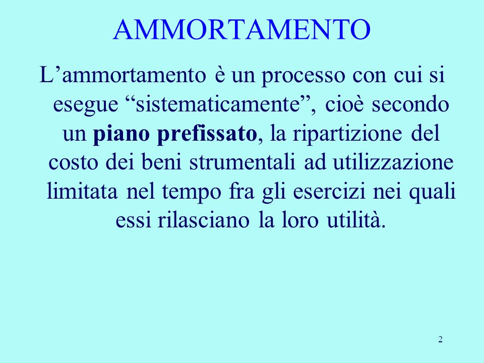 AMMORTAMENTO