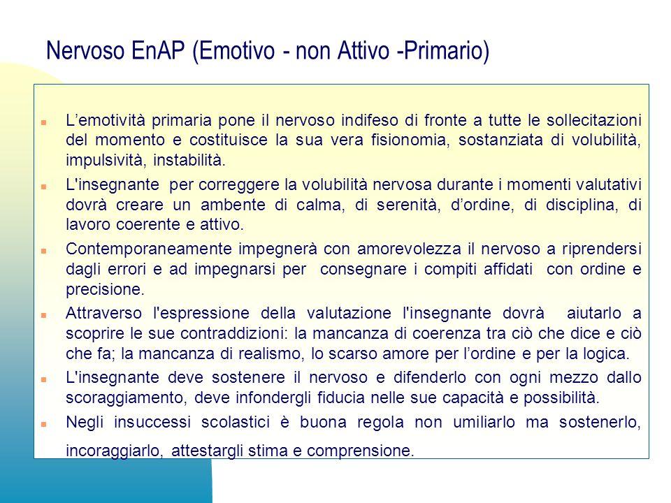Nervoso EnAP (Emotivo - non Attivo -Primario)
