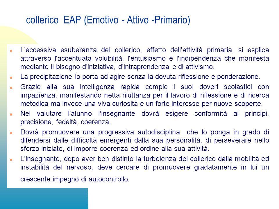 collerico EAP (Emotivo - Attivo -Primario)