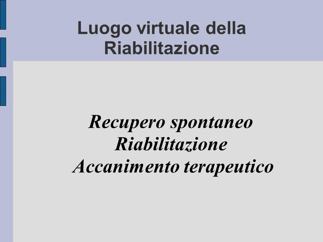 Luogo virtuale della Riabilitazione